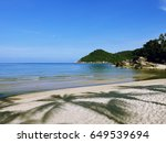 lovely view of tropical sea... | Shutterstock . vector #649539694