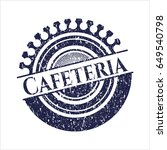 blue cafeteria rubber stamp...   Shutterstock .eps vector #649540798