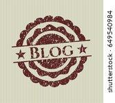 red blog distress rubber grunge ...   Shutterstock .eps vector #649540984