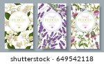 vector vertical wild flowers... | Shutterstock .eps vector #649542118