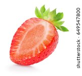 half of strawberry isolated on... | Shutterstock . vector #649547800