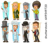cartoon cool funny different... | Shutterstock .eps vector #649549720