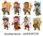 Cartoon Smiling Pirate Warrior...