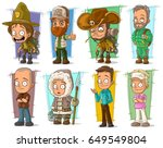 cartoon cool funny different... | Shutterstock .eps vector #649549804