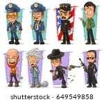 cartoon cool policeman in... | Shutterstock .eps vector #649549858