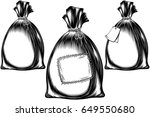 filled sack tied with a rope  a ...   Shutterstock .eps vector #649550680