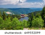 mummelsee in germany black... | Shutterstock . vector #649552099
