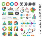 business charts. growth graph.... | Shutterstock .eps vector #649552480