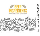 beer ingredients design card... | Shutterstock .eps vector #649564969
