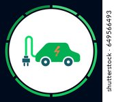 electric car icon vector. flat... | Shutterstock .eps vector #649566493