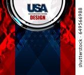 usa background on grunge...   Shutterstock .eps vector #649566988