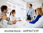 presentation and training in... | Shutterstock . vector #649567159