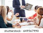 startup business team on... | Shutterstock . vector #649567990