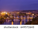 Prague At Twilight Blue Hor ...