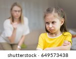 mother scolds her young... | Shutterstock . vector #649573438