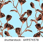 illustration made by ink on... | Shutterstock . vector #649574578