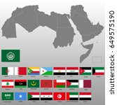 high quality map of arab world... | Shutterstock .eps vector #649575190