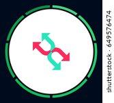 arrows icon vector. flat simple ...