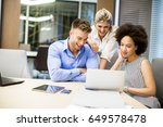 view at young business people... | Shutterstock . vector #649578478