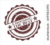 red choosing the best distress...   Shutterstock .eps vector #649581490