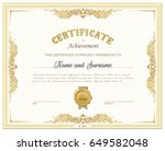 vector illustration of gold... | Shutterstock .eps vector #649582048