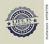blue life is beautiful...   Shutterstock .eps vector #649587598