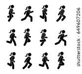 woman people various running... | Shutterstock . vector #649607206