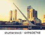 puente de la mujer  buenos... | Shutterstock . vector #649608748