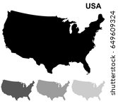 usa map outline isolated on...   Shutterstock .eps vector #649609324
