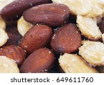 roasted almonds | Shutterstock . vector #649611760