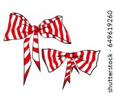 bows  stripes on a white... | Shutterstock .eps vector #649619260
