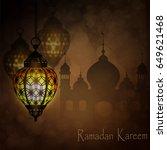 ramadan kareem  greeting... | Shutterstock .eps vector #649621468