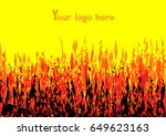 red yellow black flames...   Shutterstock .eps vector #649623163