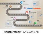 design template  road map...   Shutterstock .eps vector #649624678