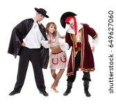 dancer team wearing halloween... | Shutterstock . vector #649627060