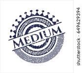 blue medium distress grunge...   Shutterstock .eps vector #649629394