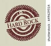 red hard rock distress rubber...   Shutterstock .eps vector #649629514