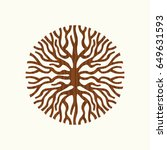 abstract circle shape of tree... | Shutterstock .eps vector #649631593