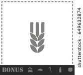 agriculture icon flat. simple... | Shutterstock .eps vector #649632874