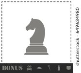 chess icon flat. simple vector... | Shutterstock .eps vector #649634980