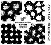 vector set of seamless patterns ...   Shutterstock .eps vector #649637650