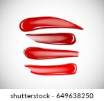 collection of smears lipstick ... | Shutterstock .eps vector #649638250