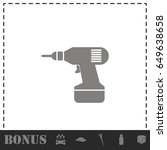 drill icon flat. simple vector... | Shutterstock .eps vector #649638658