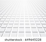 white perspective 3d checkered... | Shutterstock .eps vector #649645228