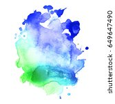 abstract hand drawn watercolor...   Shutterstock .eps vector #649647490