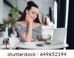 portrait of caucasian woman... | Shutterstock . vector #649652194