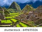ancient inca city of machu...   Shutterstock . vector #649655326