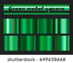 green gradient square set.... | Shutterstock .eps vector #649658668