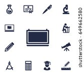set of 13 education icons set... | Shutterstock .eps vector #649662580