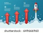infographics template of rocket ... | Shutterstock .eps vector #649666960